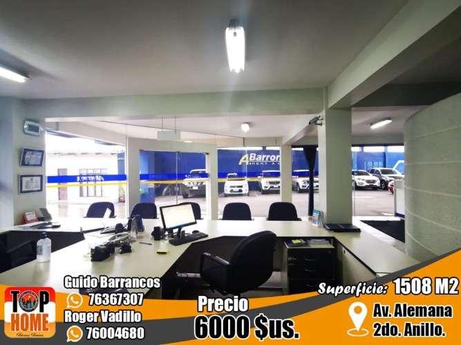 Se alquila o se vende  por transformación de negocio amplia esquina con oficinas comerciales en la mejor ubicación de la zona norte de santa cruz. 1401039287